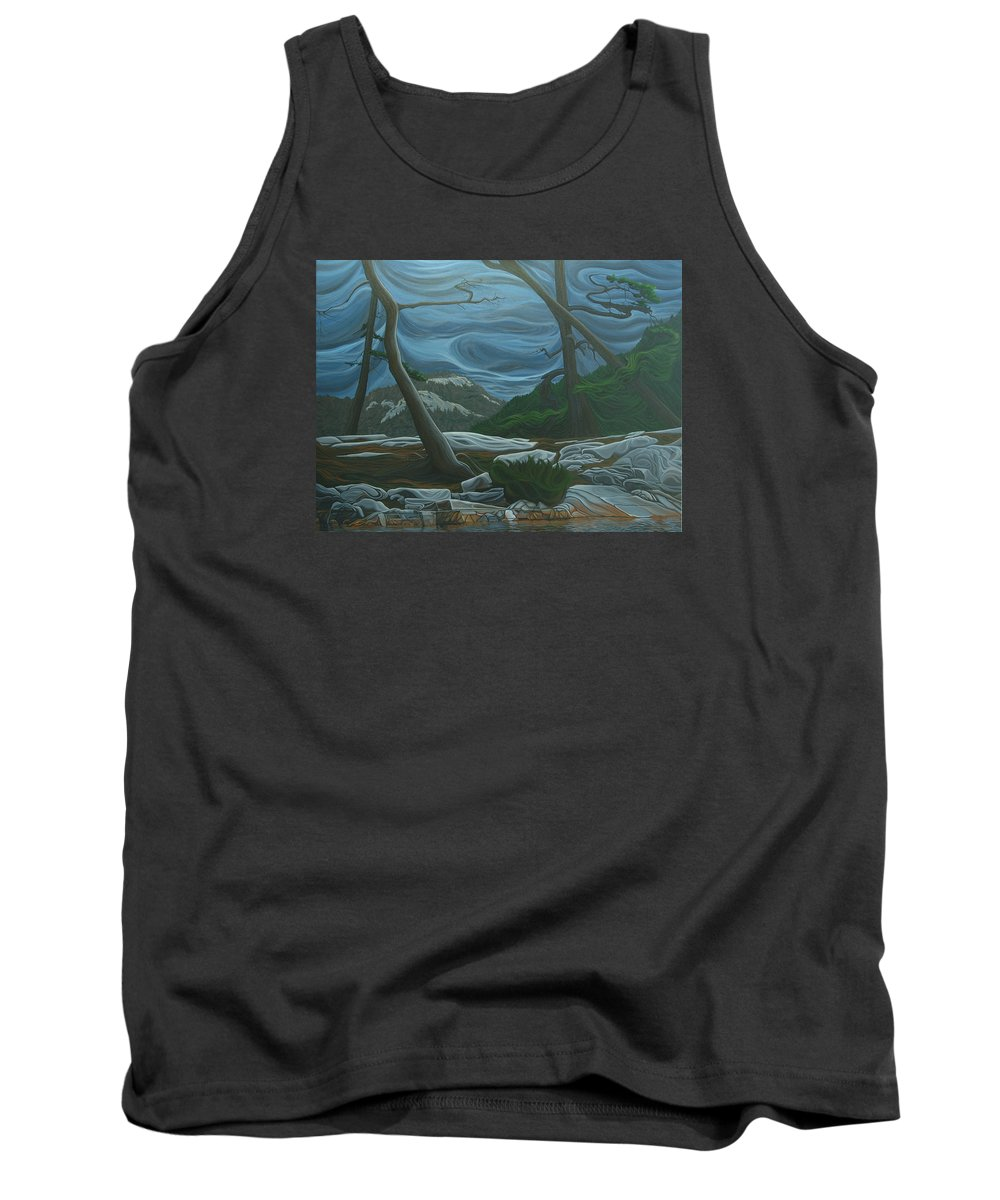 Grace Lake Tank Top featuring the painting Grace Lake by Jan Lyons