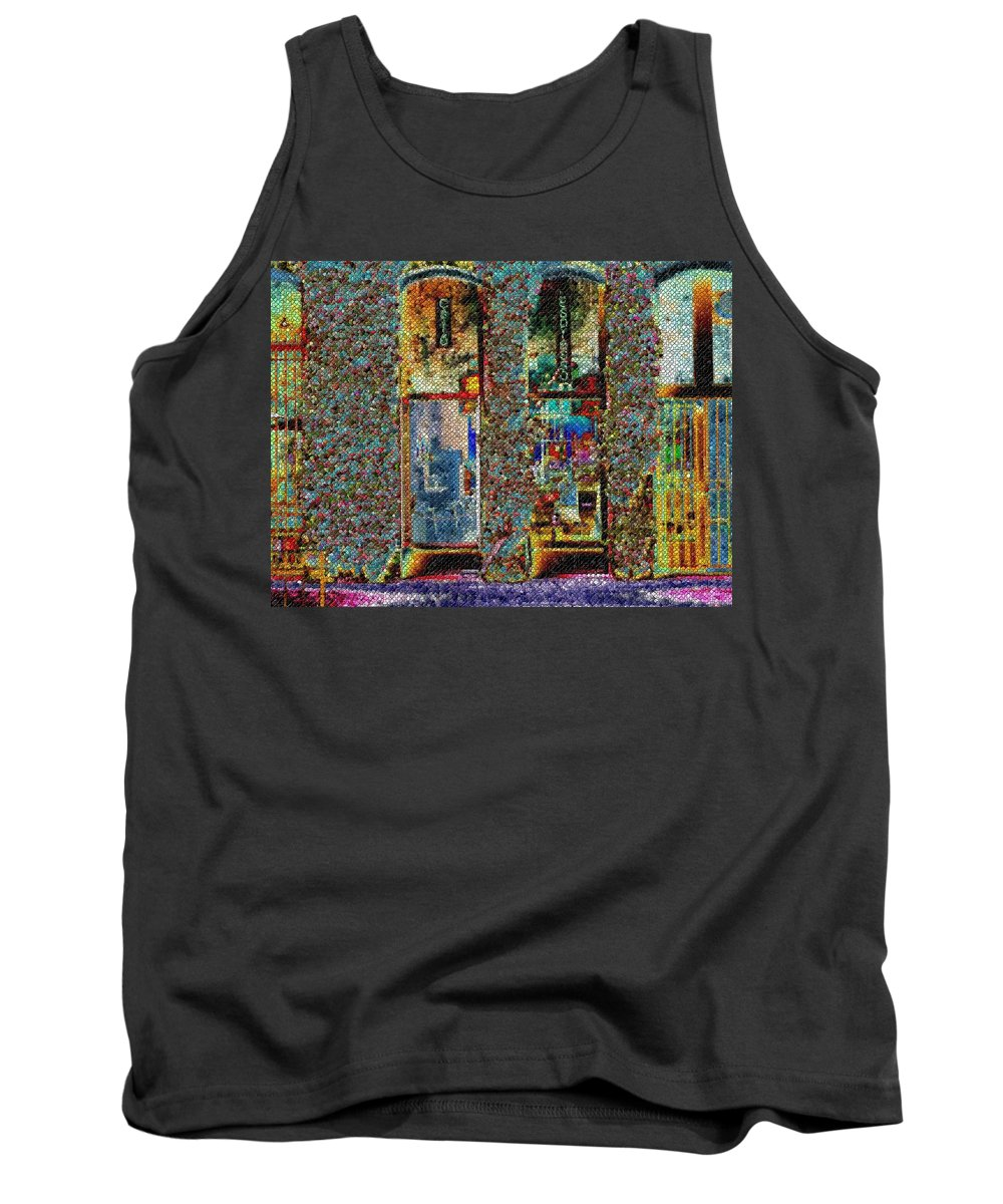 Seattle Tank Top featuring the digital art Grand Central Bakery Mosaic by Tim Allen