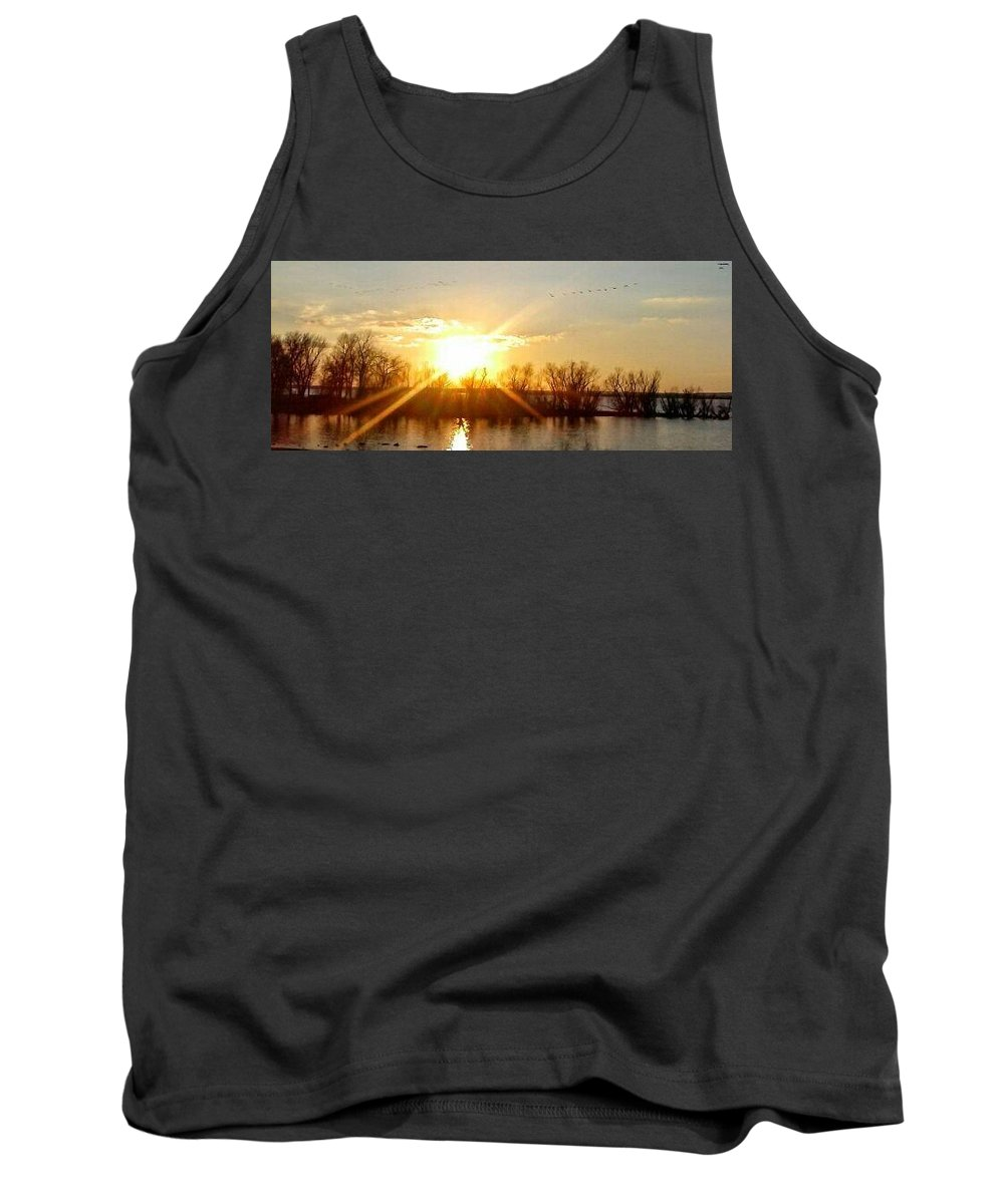 Lake View Tank Top featuring the photograph Grand Lake Sunset by Howard Hansen