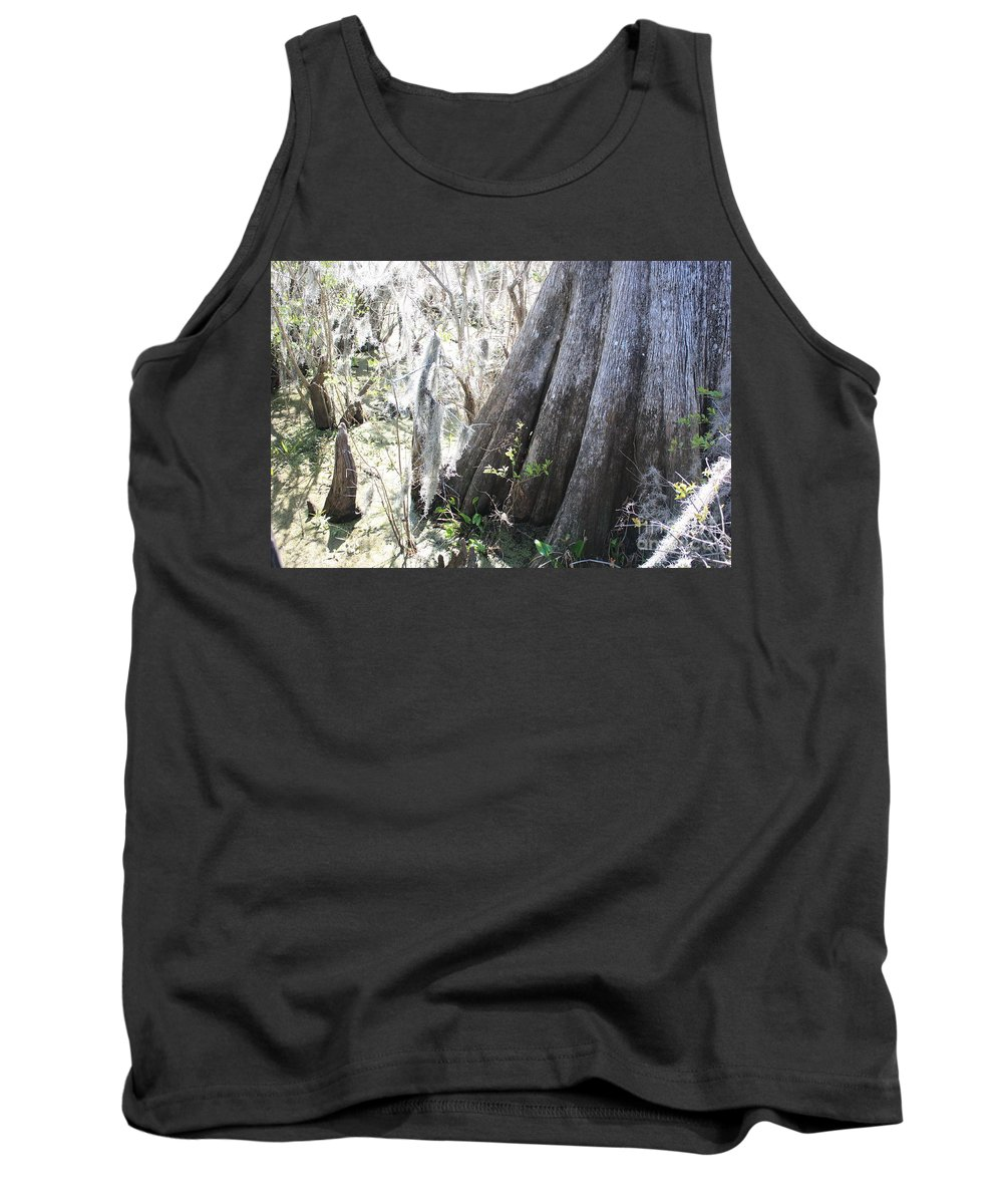 Old Cypress Tank Top featuring the photograph Grandfather Cypress by Carol Groenen