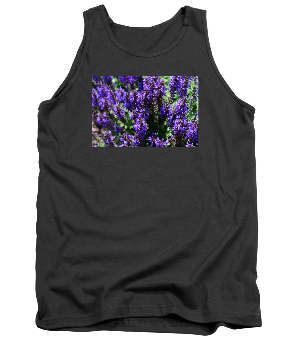 Flower Tank Top featuring the photograph Grape Glory by Michiale Schneider