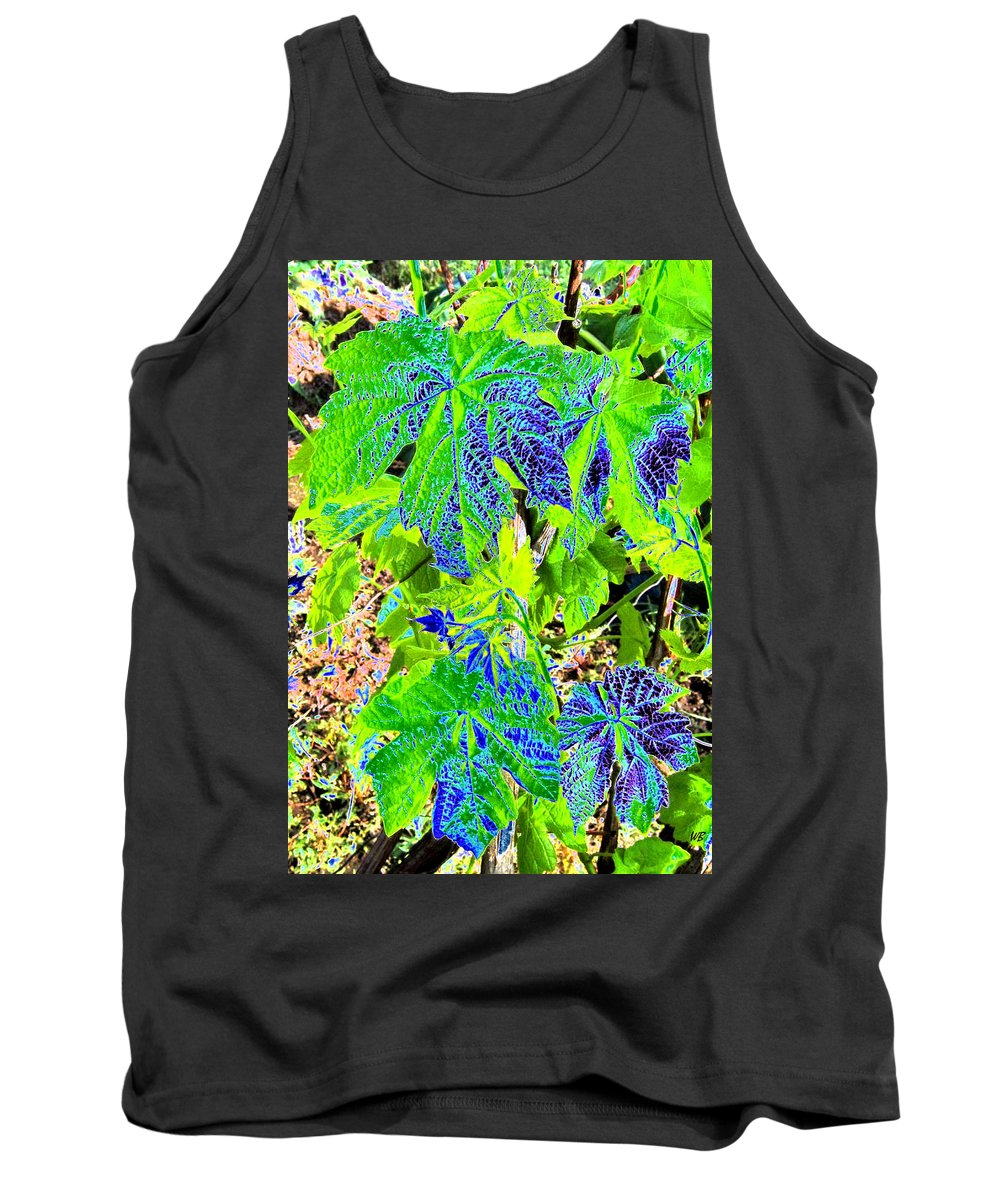 Grape Leaves Tank Top featuring the digital art Grape Leaves by Will Borden