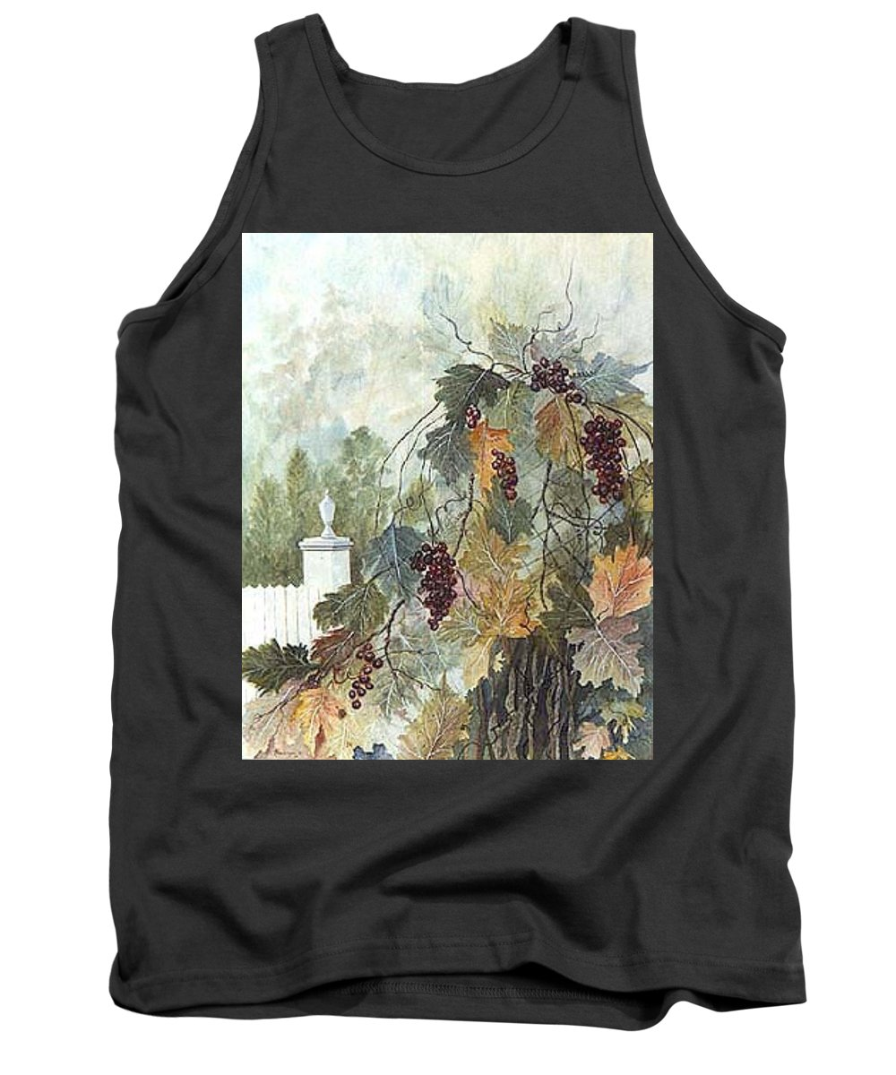 Fruit Tank Top featuring the painting Grapevine Topiary by Ben Kiger