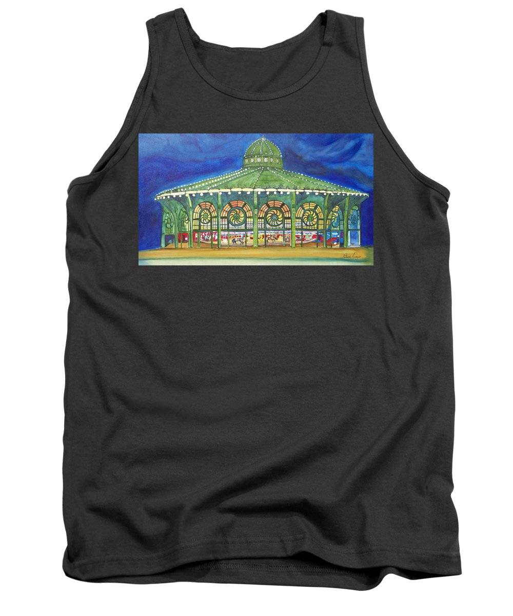 Night Paintings Of Asbury Park Tank Top featuring the painting Grasping The Memories by Patricia Arroyo