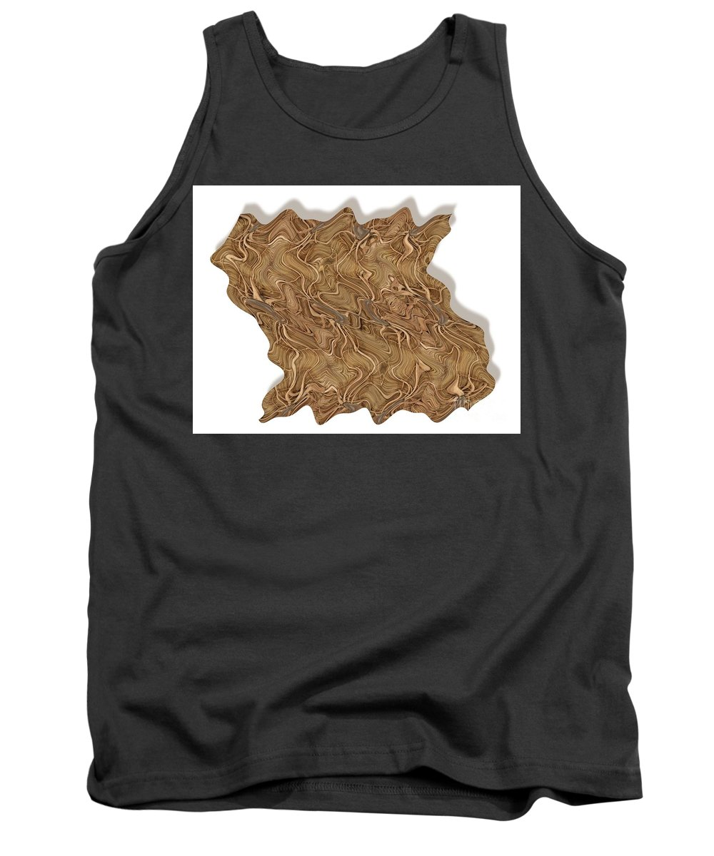 Abstract Tank Top featuring the digital art Grass Works by Ron Bissett