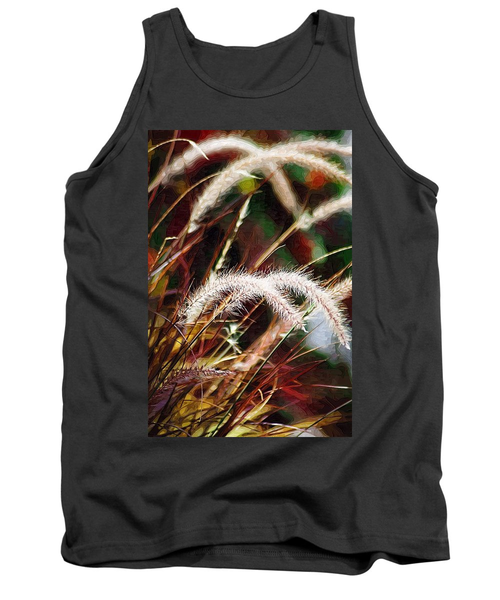 Grass Tank Top featuring the photograph Grasses by Donna Bentley