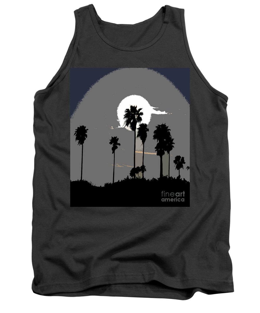 Palms Tank Top featuring the painting Gray Palms by David Lee Thompson