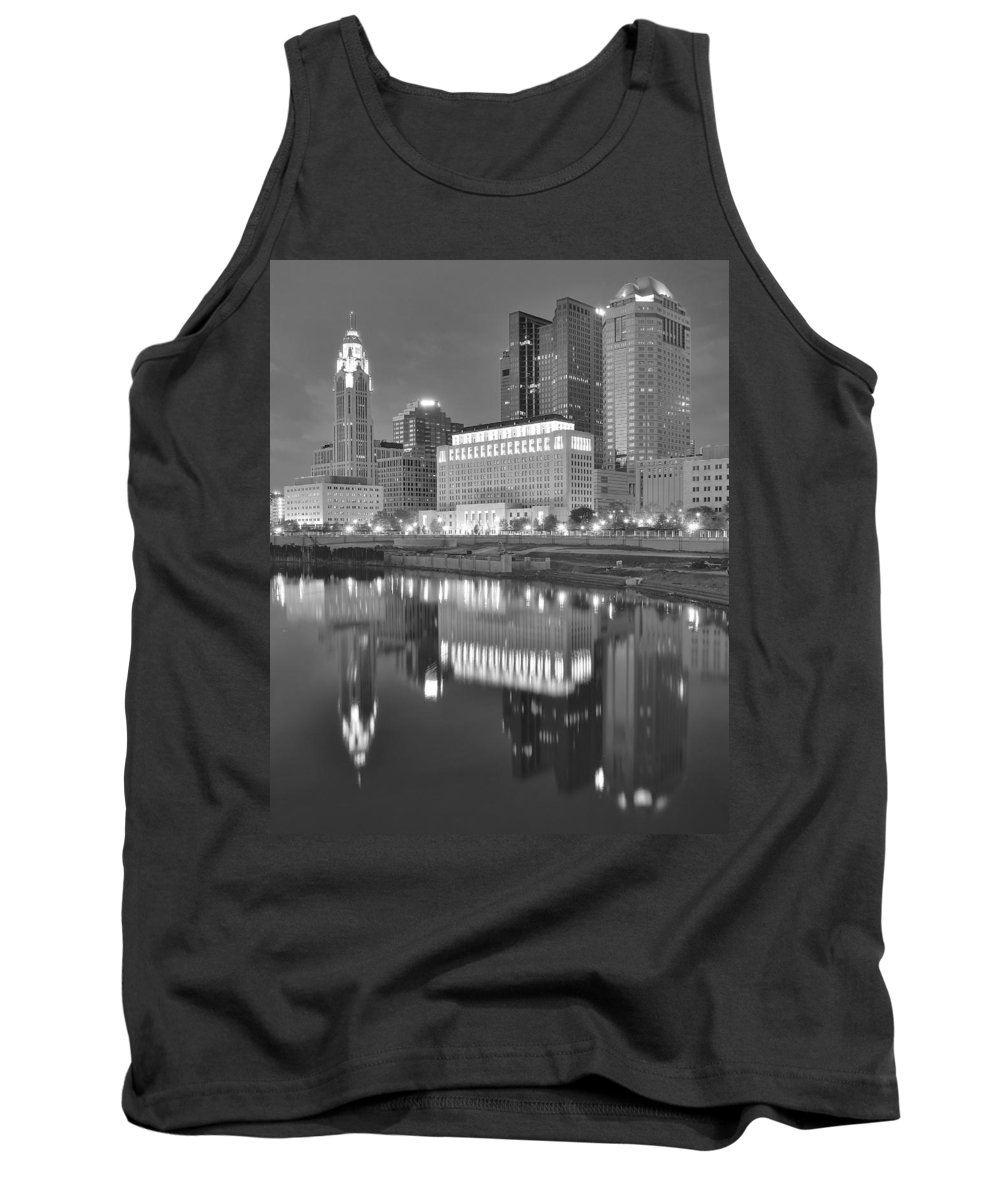 Columbus Tank Top featuring the photograph Grayscale Columbus by Frozen in Time Fine Art Photography