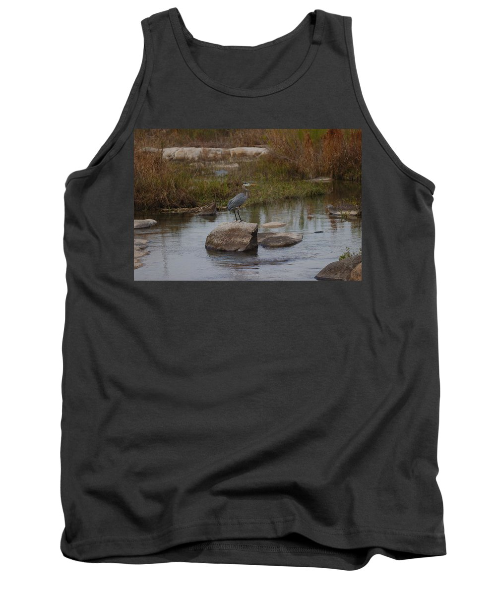 Heron Tank Top featuring the photograph Great Blue Heron by James Smullins