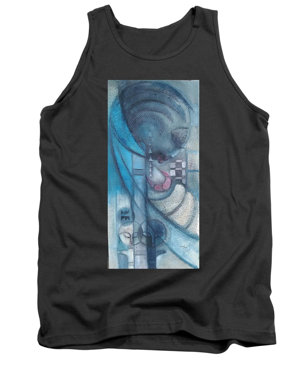 Tank Top featuring the painting Great Lover by Ankeli Christopher
