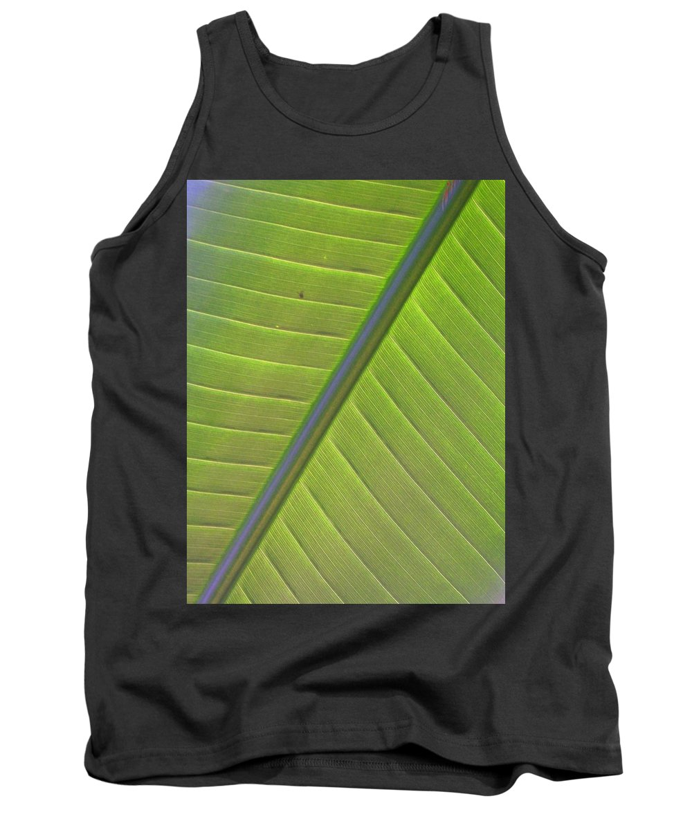 Leaf Tank Top featuring the photograph Green And Purple Pattern by Laurie Paci