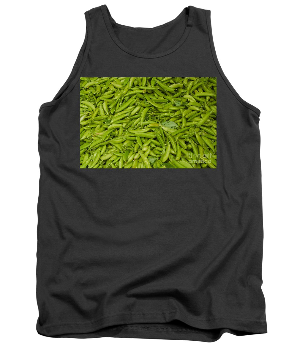 Green Tank Top featuring the photograph Green Beans by Thomas Marchessault