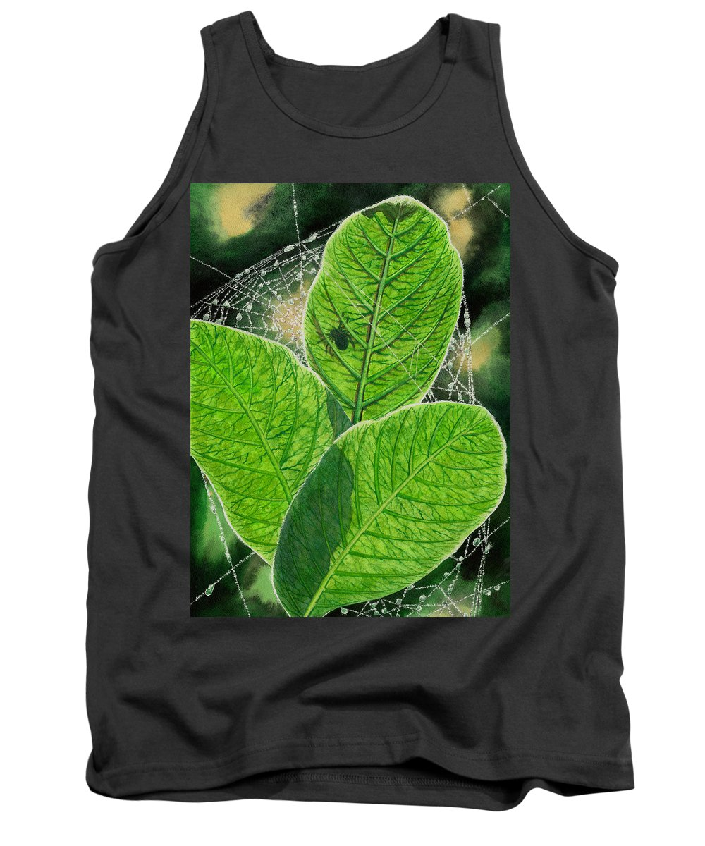 Spider Tank Top featuring the painting Green by Catherine G McElroy