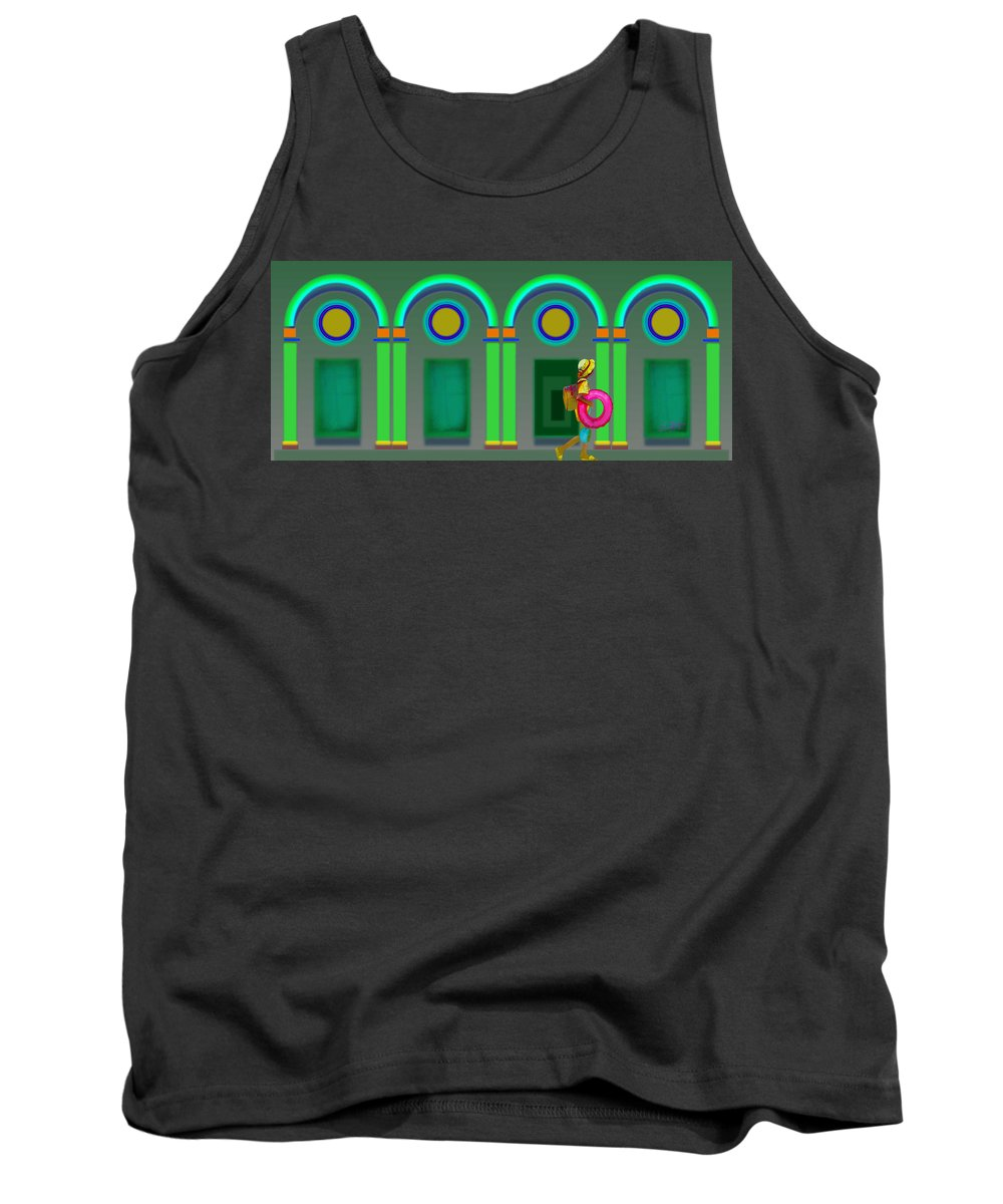 Classical Tank Top featuring the painting Green Doors by Charles Stuart