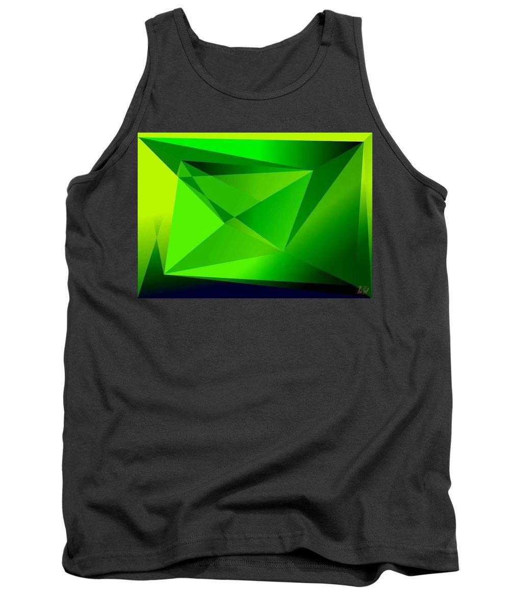Pyramiden Tank Top featuring the digital art Green by Helmut Rottler