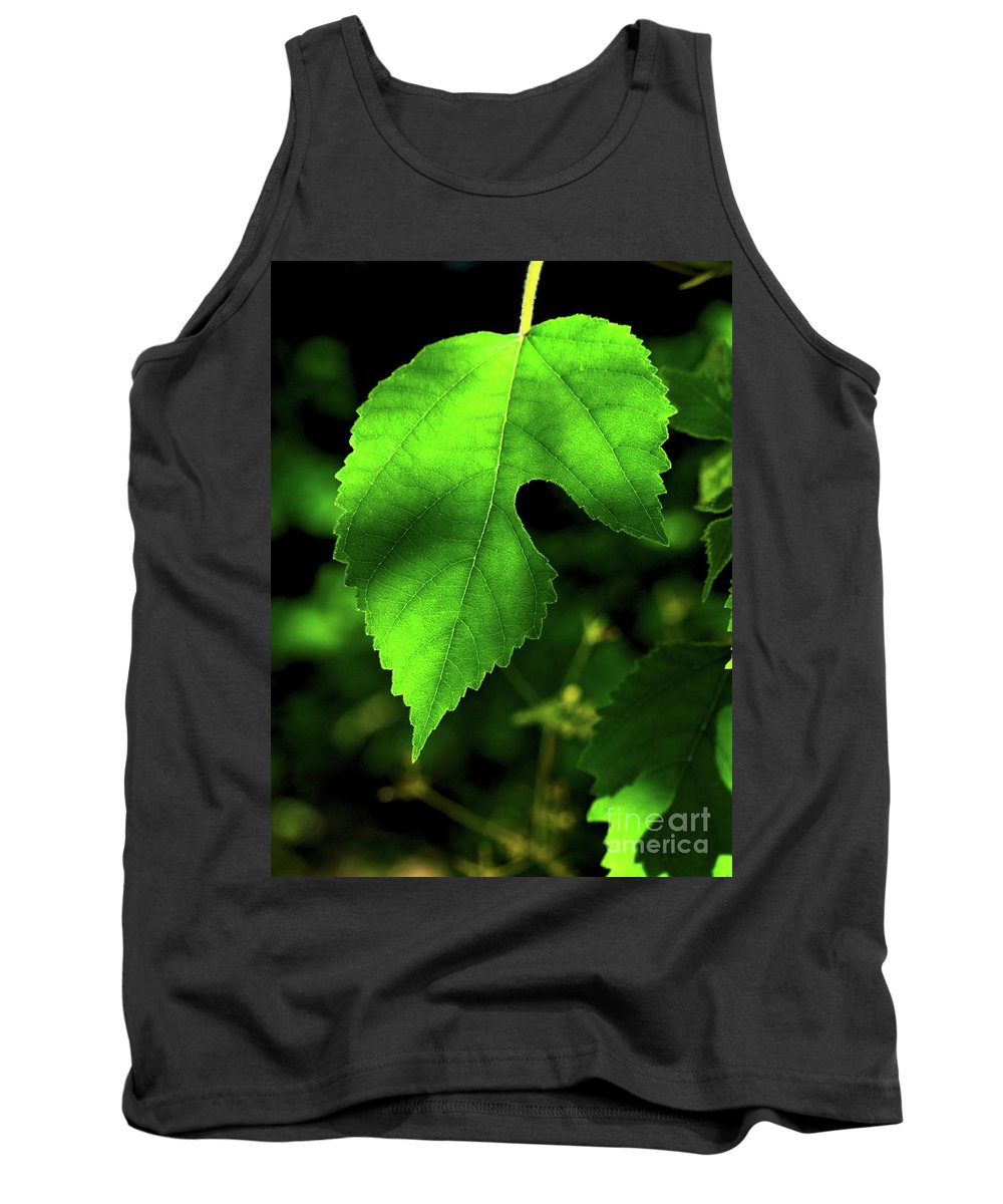 Green Tank Top featuring the photograph Green Is The Mulberry Leaf by Gary Richards