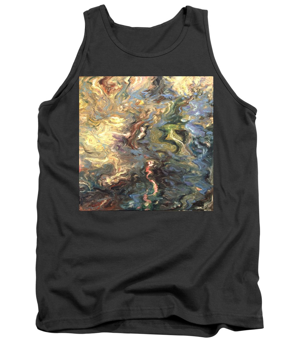 Green Tank Top featuring the painting Green by Rick Nederlof