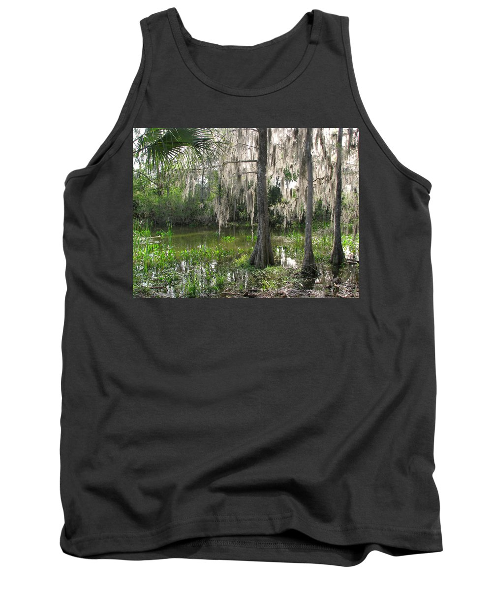Nature Tank Top featuring the photograph Green Swamp by Peg Urban