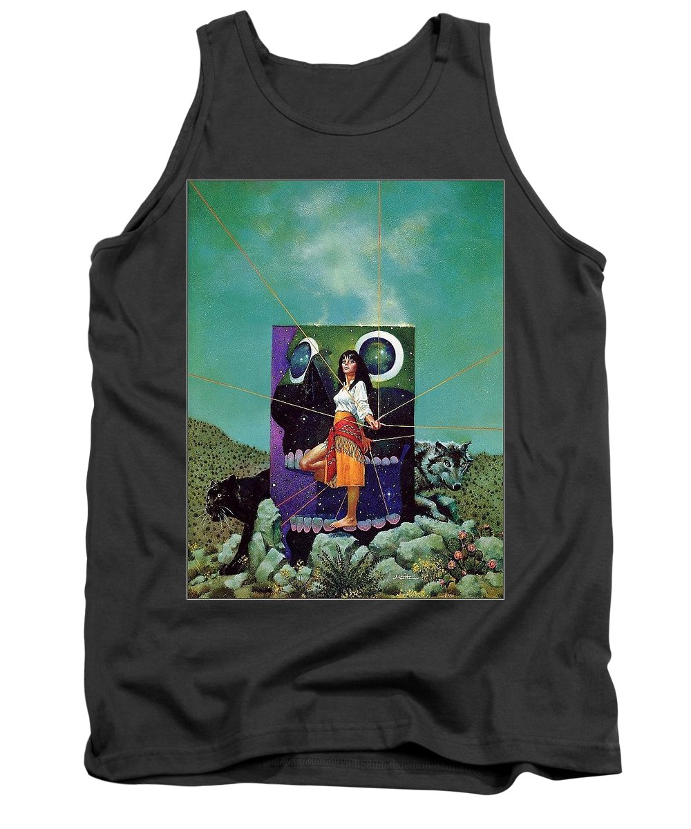Person Tank Top featuring the digital art Greetings From The Otherworld Don Maitz by Eloisa Mannion