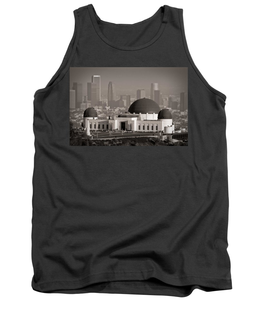 3scape Tank Top featuring the photograph Griffith Observatory by Adam Romanowicz