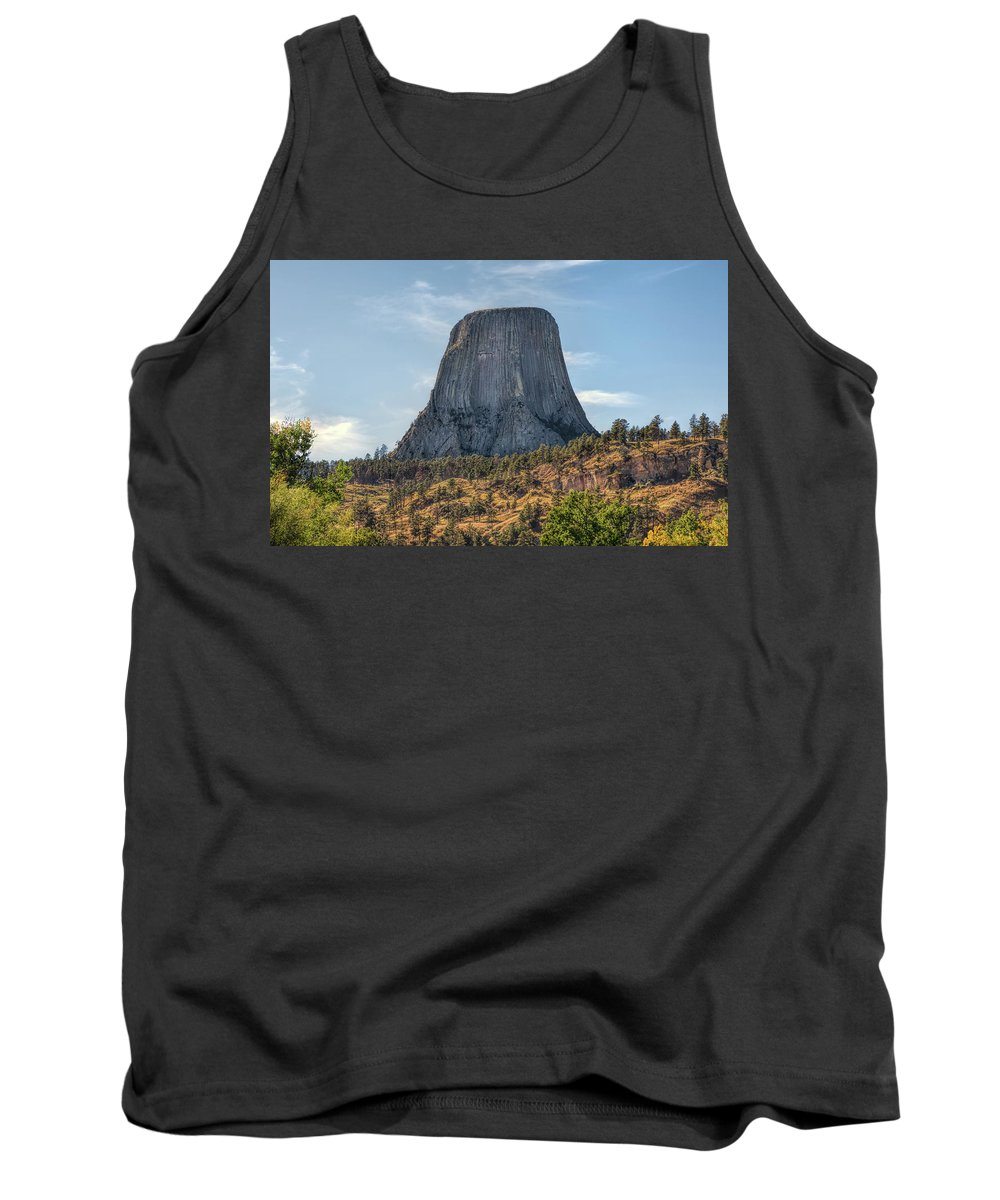 Blue Tank Top featuring the photograph Grizzly Bear Lodge by John M Bailey