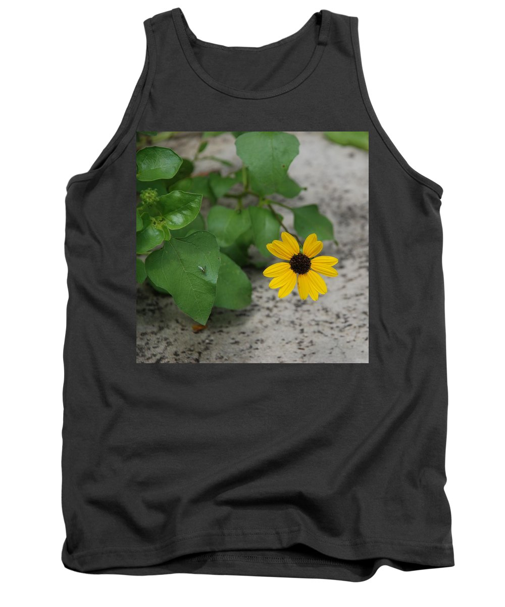 Macro Tank Top featuring the photograph Grounded Sunflower by Rob Hans