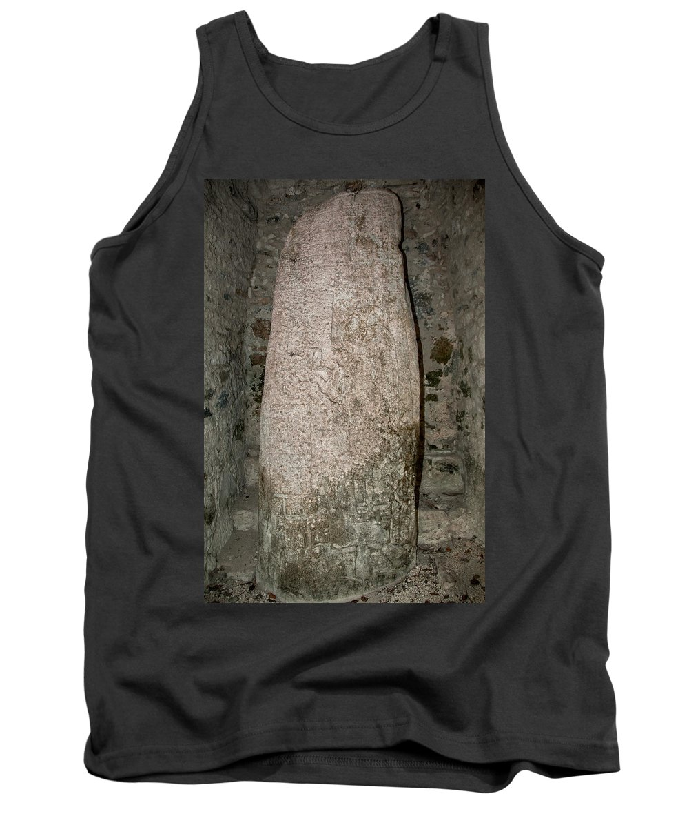 Mexico Quintana Roo Tank Top featuring the digital art Groupo Mecanxoc At The Coba Ruins by Carol Ailles