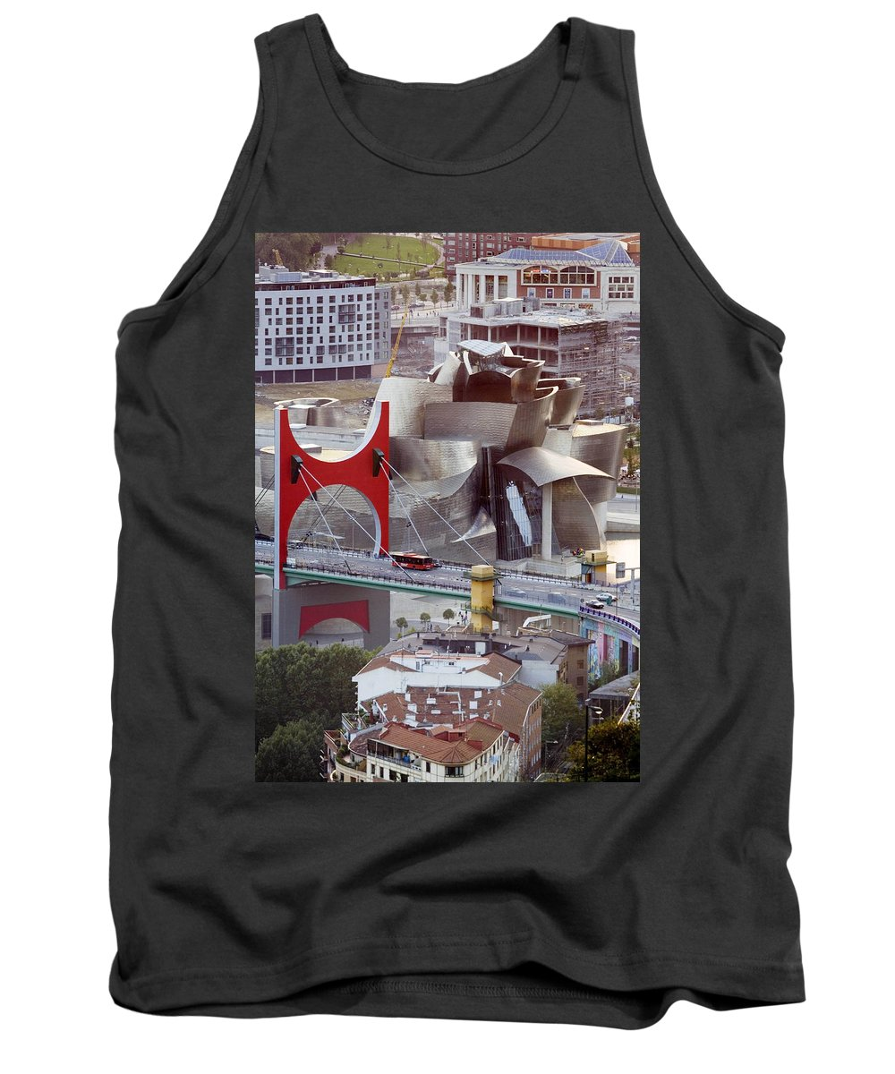 Spain Tank Top featuring the photograph Guggenheim Bilbao Museum II by Rafa Rivas