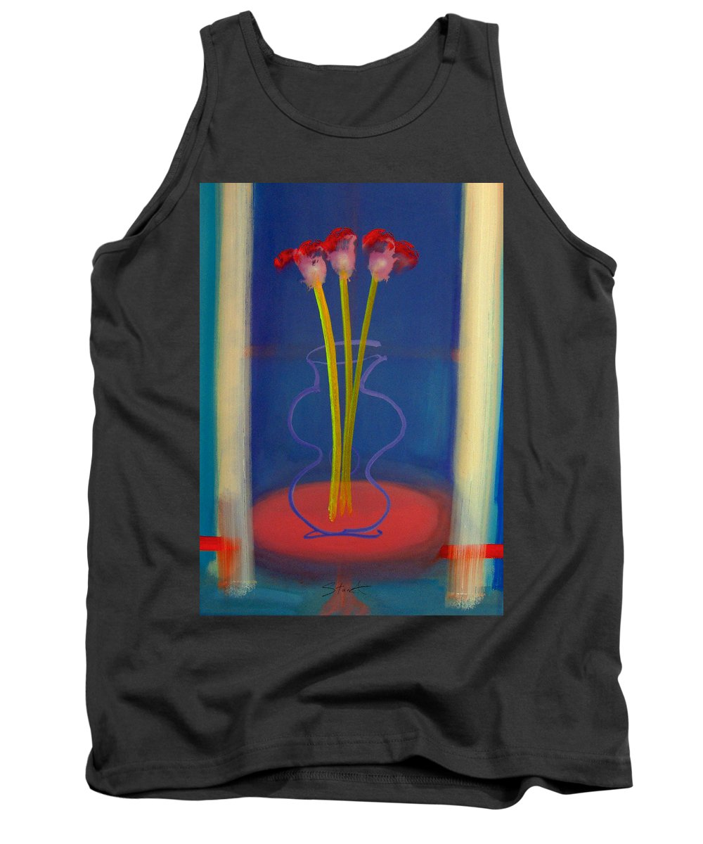Guitar Tank Top featuring the painting Guitar Vase by Charles Stuart