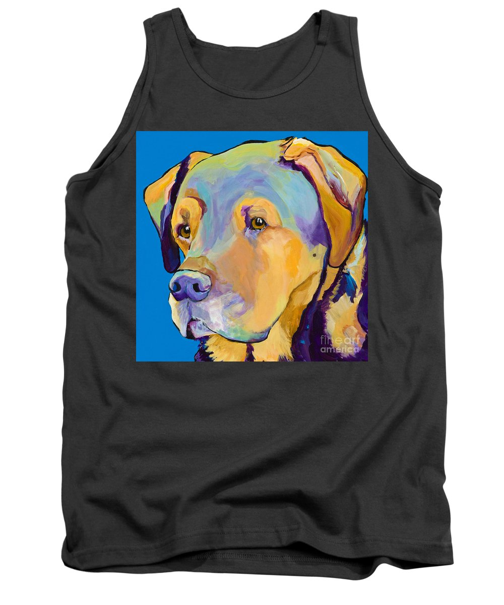 Dog Portrait Tank Top featuring the painting Gunner by Pat Saunders-White