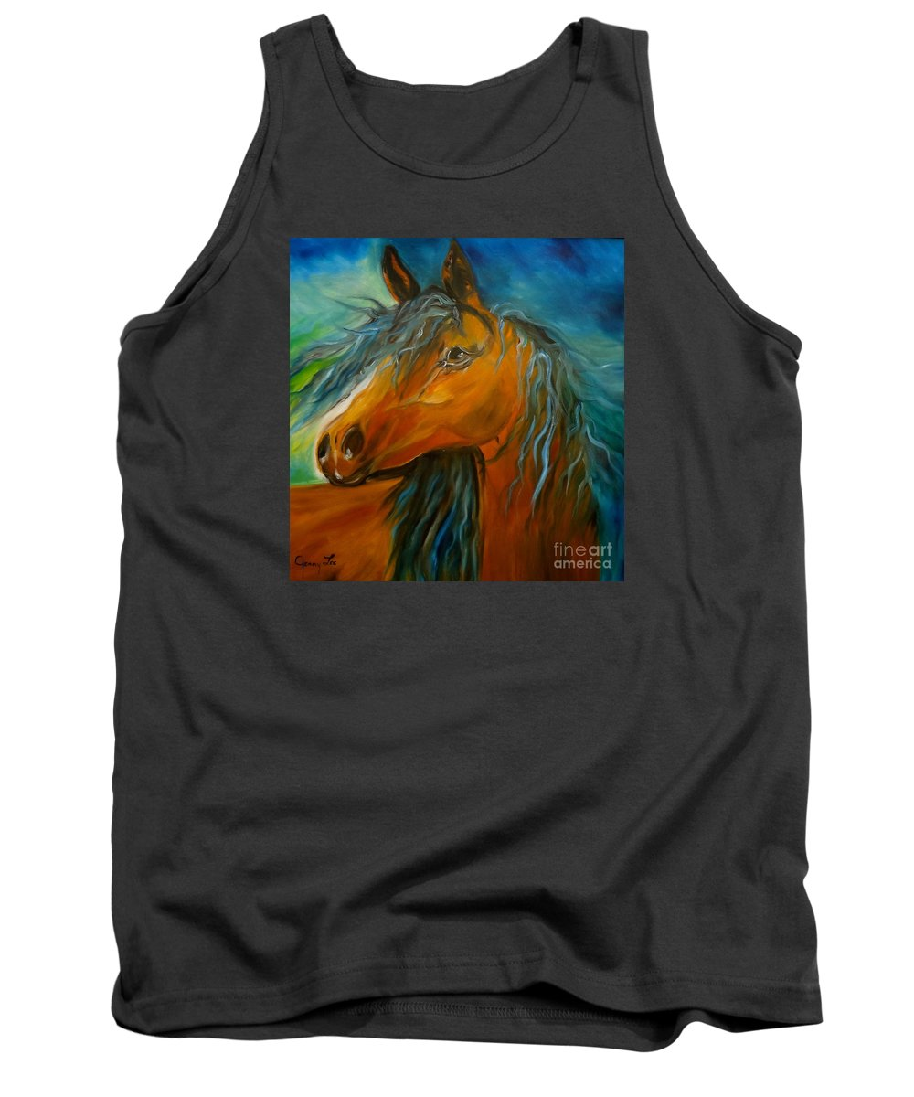 Horse Canvas Print Tank Top featuring the painting Gypsy Jenny Lee Discount by Jenny Lee