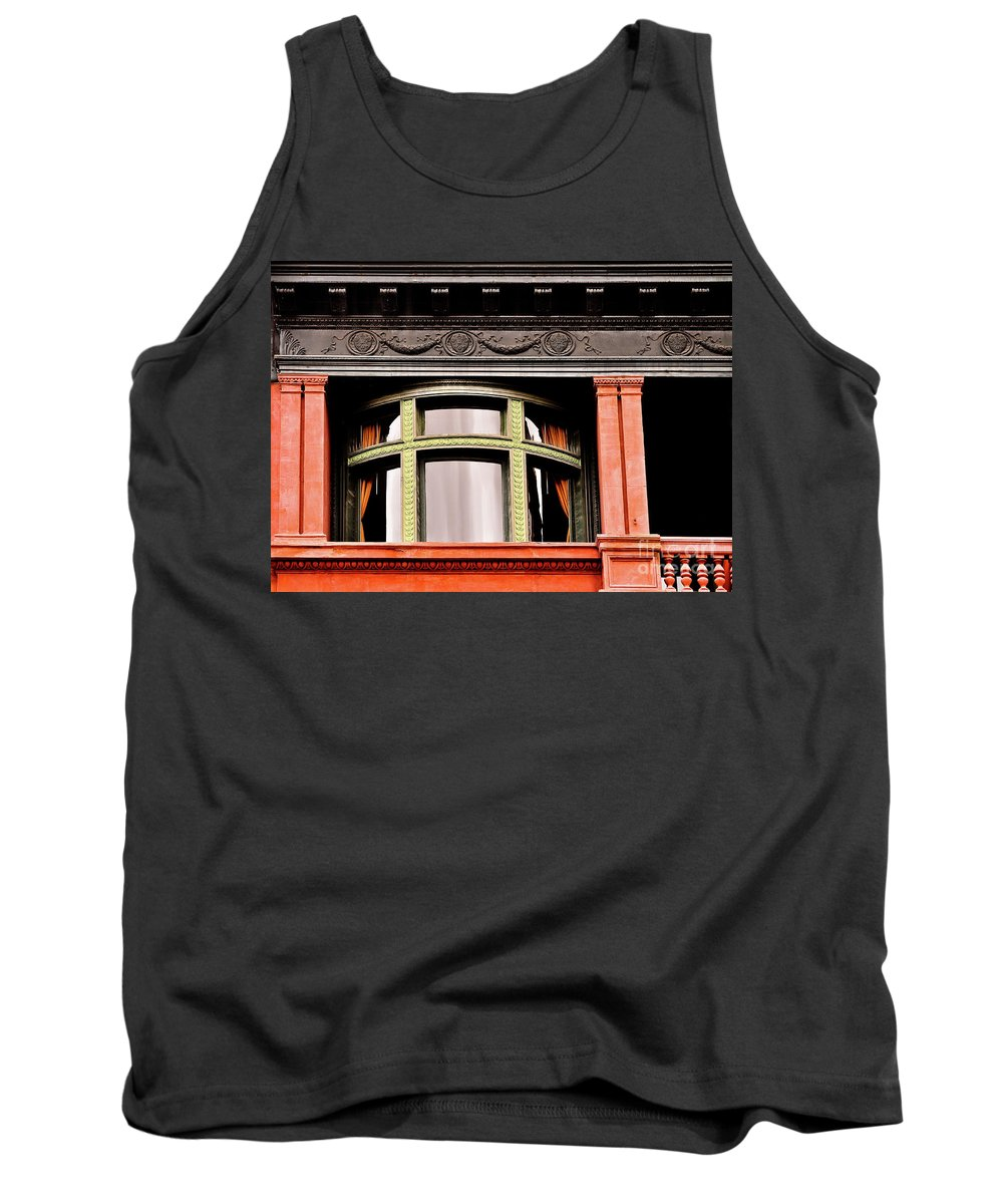 San Antonio Tank Top featuring the photograph H Between The Columns by Frances Hattier