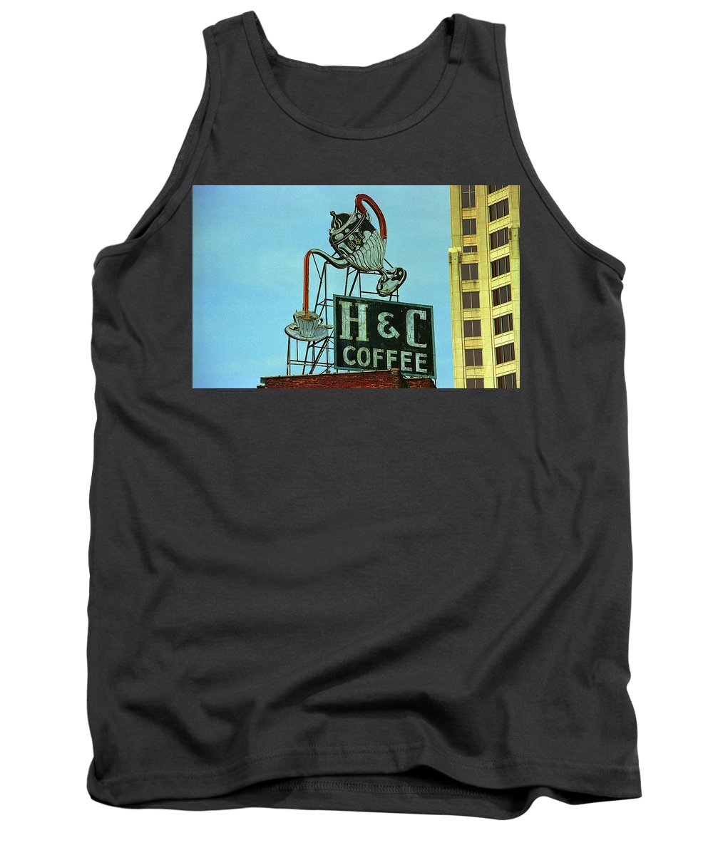 America Tank Top featuring the photograph H C Coffee by Frank Romeo