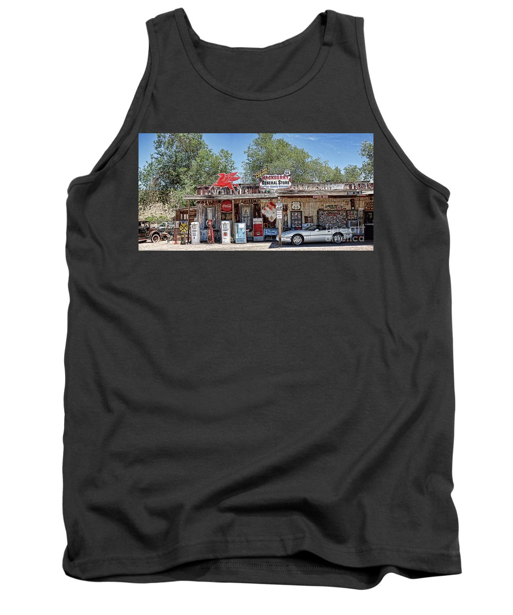 Hackberry General Store Tank Top featuring the photograph Hackberry General Store On Route 66, Arizona by Tatiana Travelways
