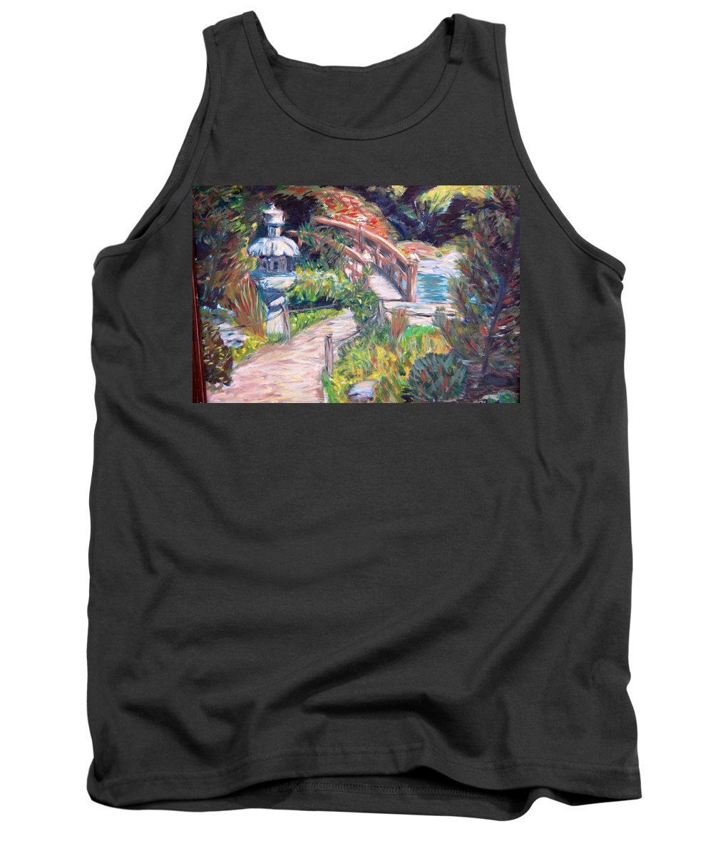 Hakone Garden Tank Top featuring the painting Hakone by Carolyn Donnell
