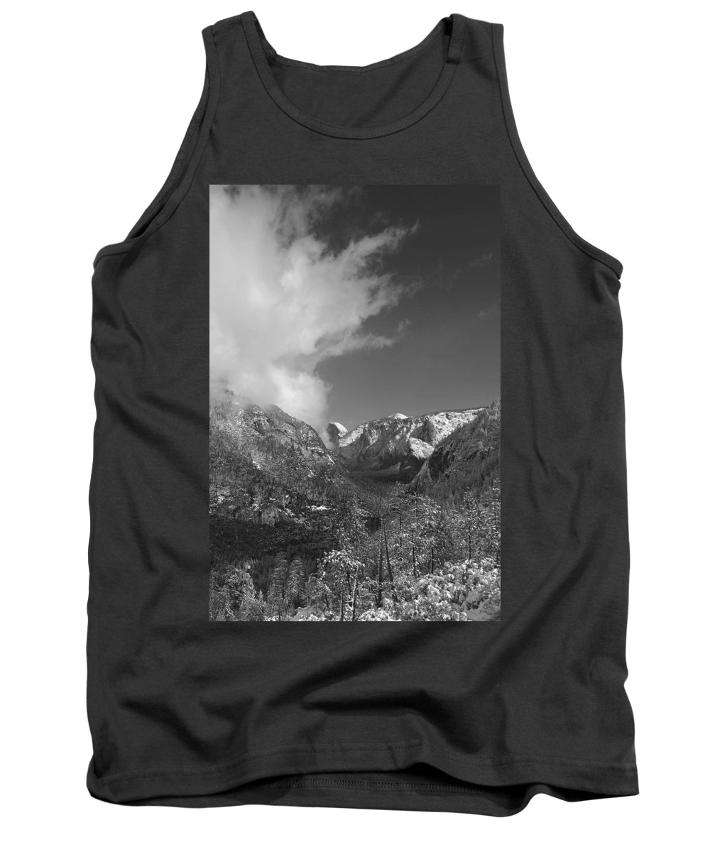 Half Dome Tank Top featuring the photograph Half Dome Winter by Travis Day