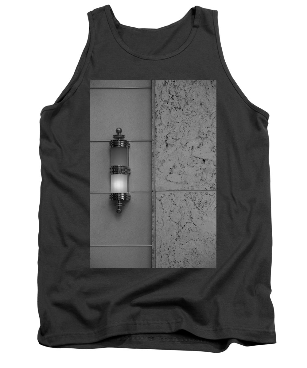 Sconce Tank Top featuring the photograph Half Lit Wall Sconce by Rob Hans