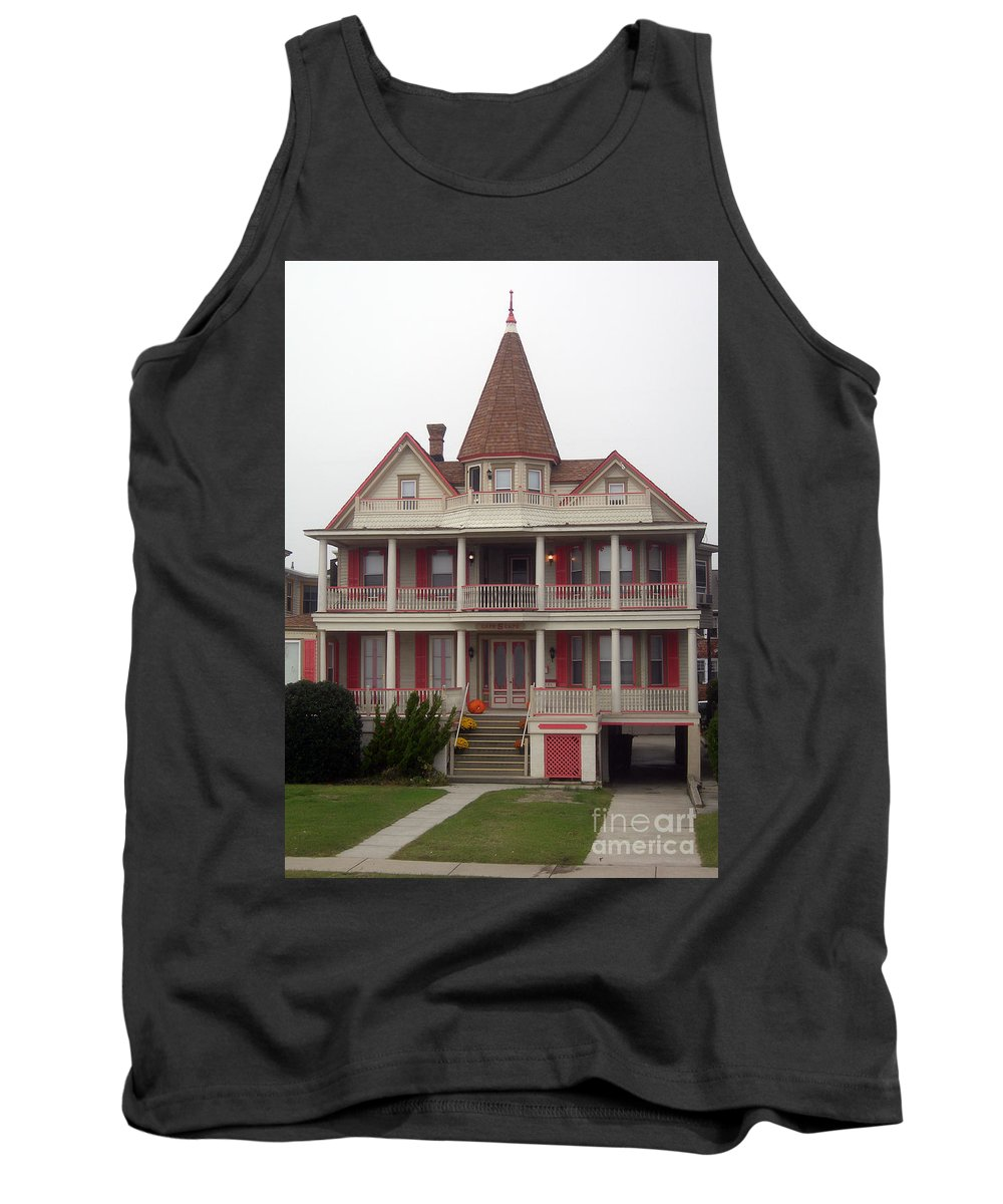 Scenic Tours Tank Top featuring the photograph Halloween In Cape May by Skip Willits