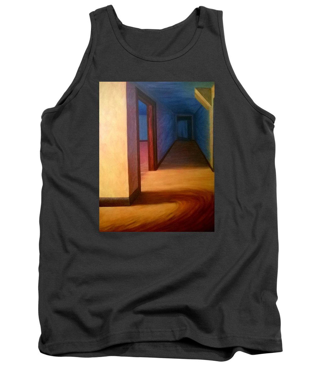 Hallway Tank Top featuring the painting Hallway by Joann Renner