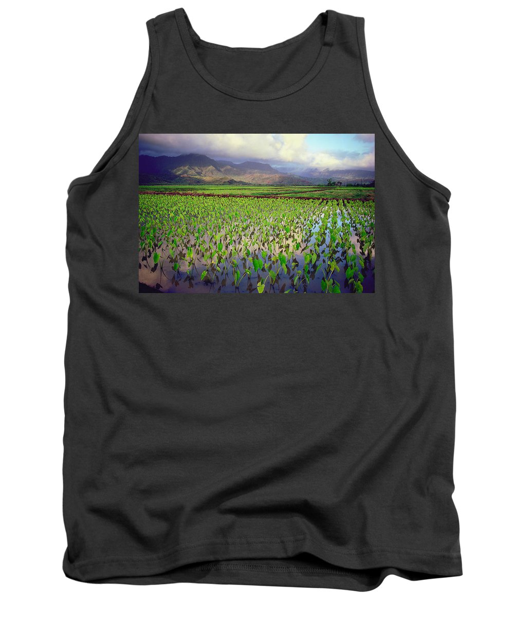 Kauai Tank Top featuring the photograph Hanalei Valley Taro Ponds by Kevin Smith