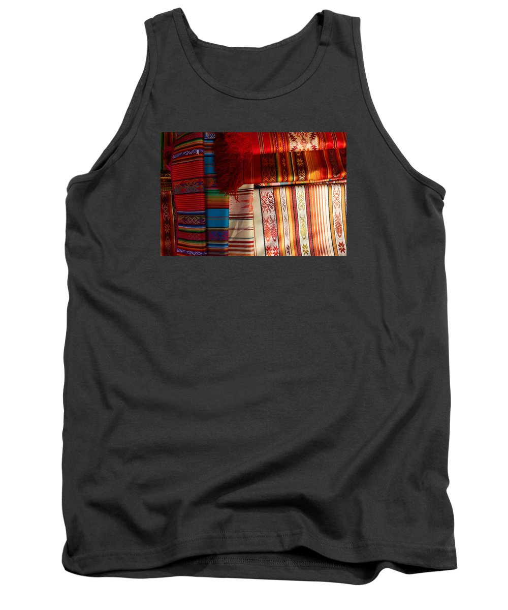 Table Cloth Tank Top featuring the photograph Hand Woven Table Cloths by Robert Hamm
