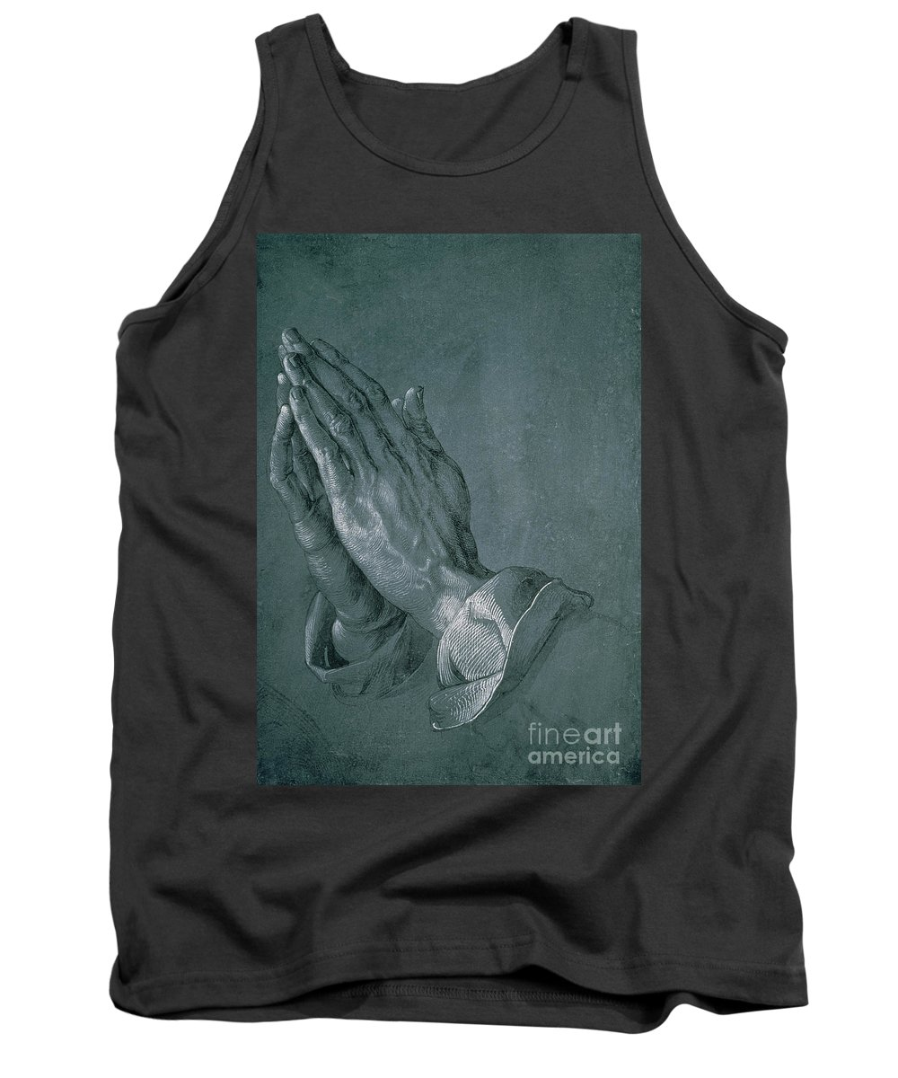 Hands Of An Apostle Tank Top featuring the drawing Hands Of An Apostle by Albrecht Durer