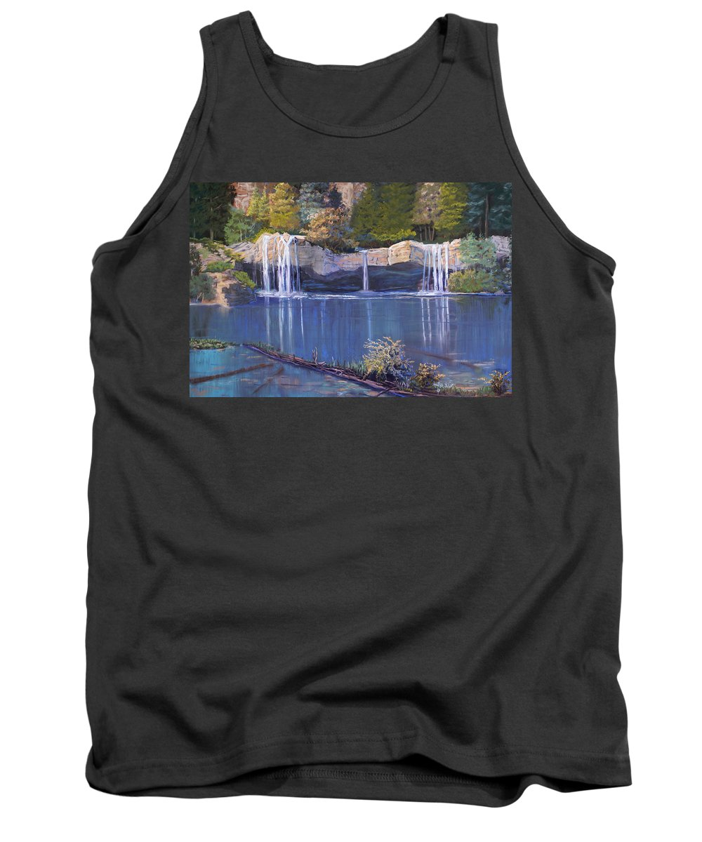 Landscape Tank Top featuring the painting Hanging Lake by Heather Coen