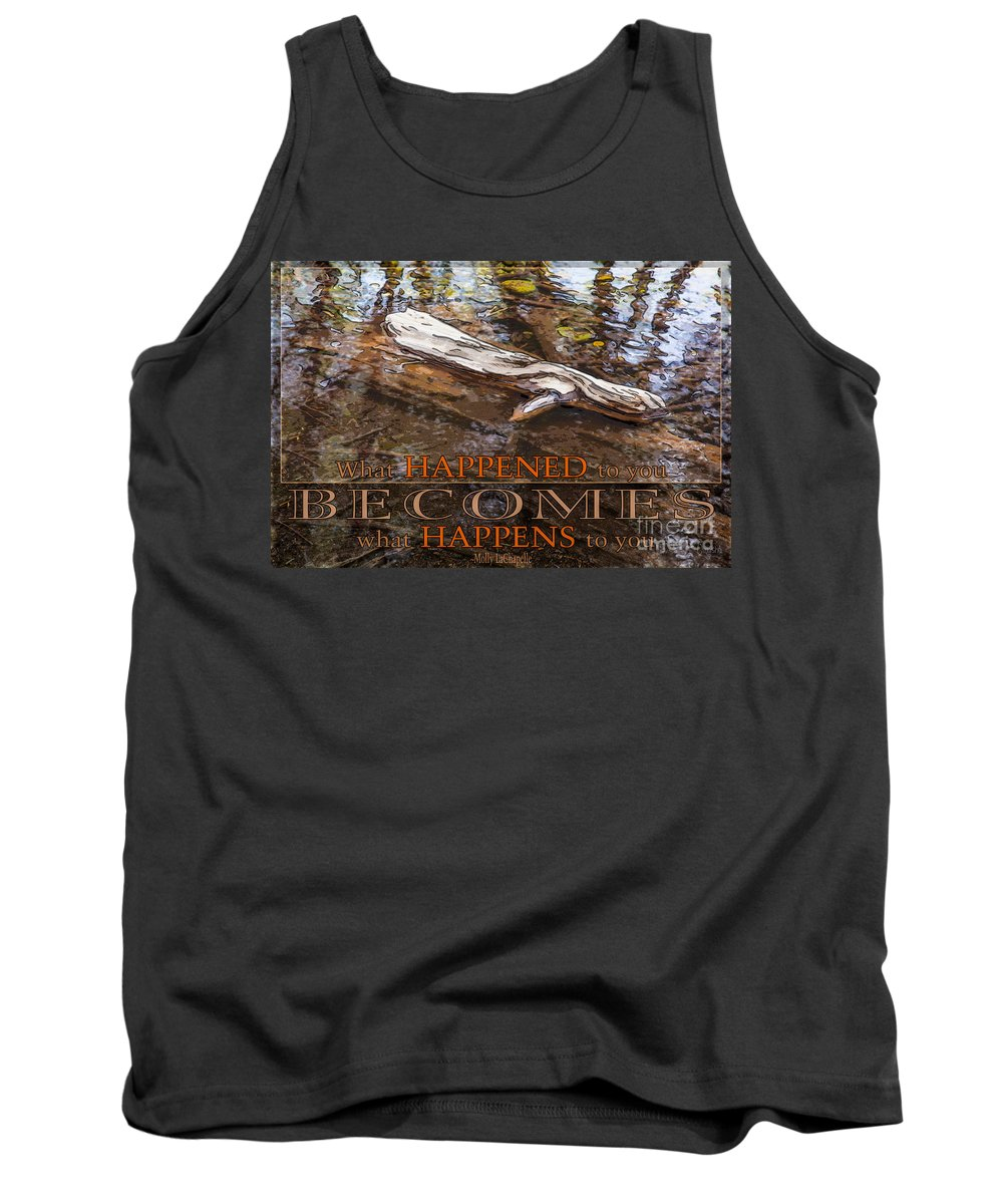2x3 (4x6) Tank Top featuring the photograph Happenings Abstract Motivational Artwork By Omashte by Omaste Witkowski