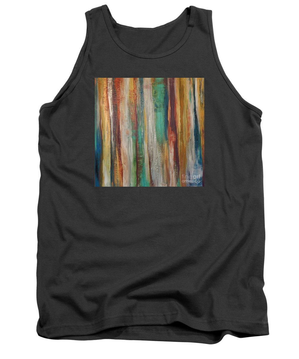 Abstract Tank Top featuring the painting Happiness by Graciela Castro