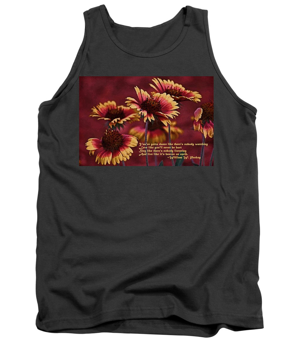Gaillardia Tank Top featuring the photograph Happy Dancer 2 by HH Photography of Florida