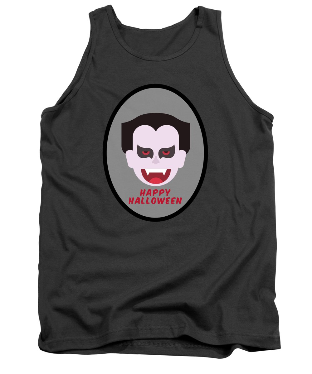 Zombie Tank Top featuring the digital art Happy Halloween by Esoterica Art Agency