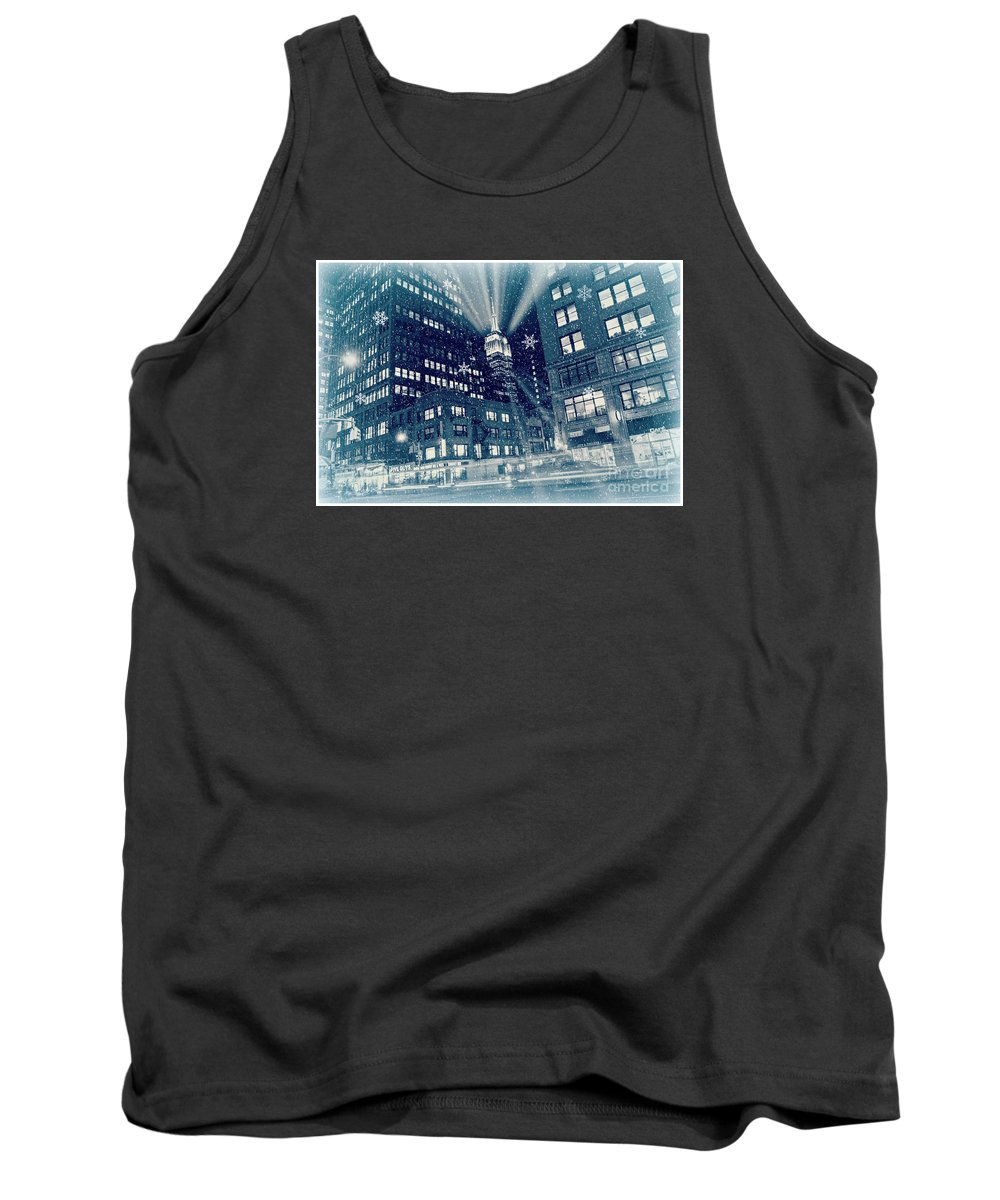 New York City Tank Top featuring the photograph Happy Holidays From New York City by Rima Biswas