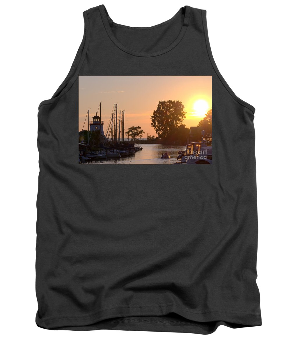 Grand Bend Tank Top featuring the photograph Harbor View 11 by John Scatcherd