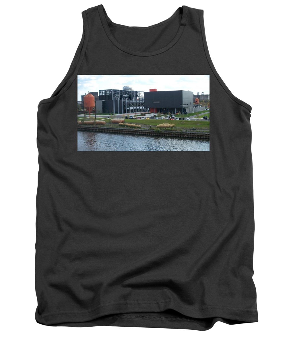 Architechture Tank Top featuring the photograph Harley Museum Milwaukee by Anita Burgermeister